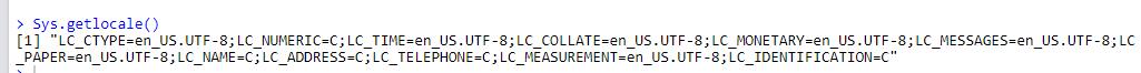 Пример кодировки в R по умолчанию