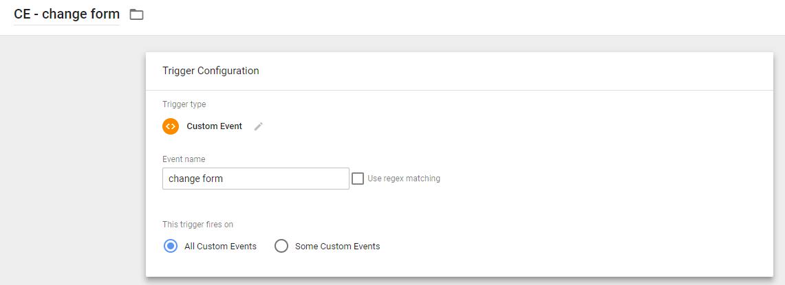 Тригер пользовательского события для отслеживания формы в Google Tag Manager