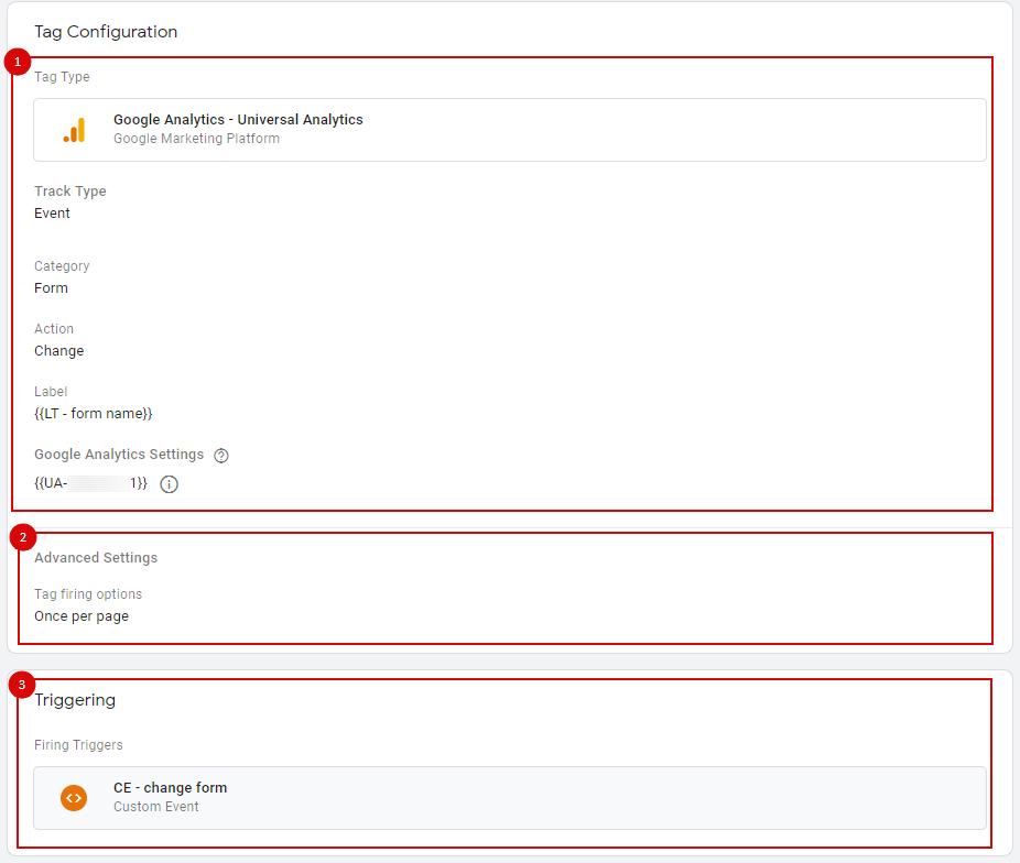 Этапы настройки тега в Google Tag Manager