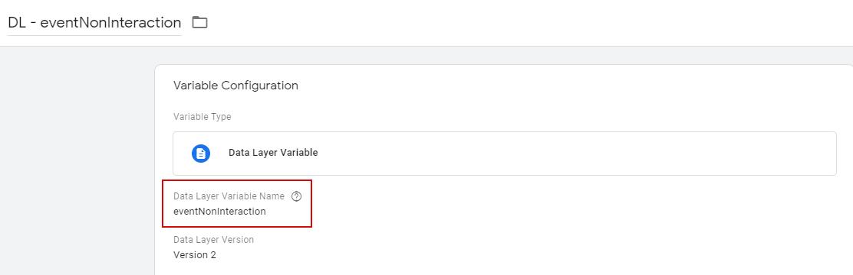 Настройка переменной Уровня данных в которой хранится информация о значении параметра Не взаимодействие