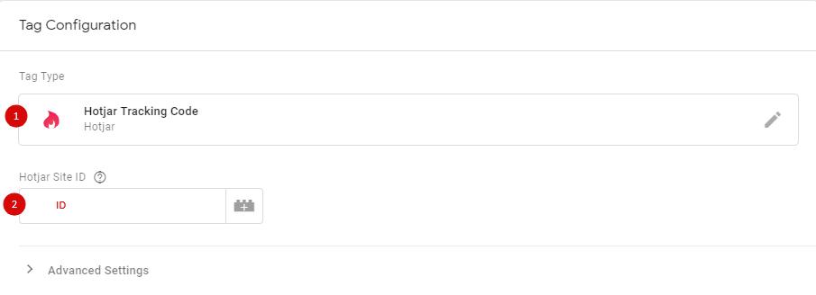Настройка тега Hotjar Tracking Code в GTM
