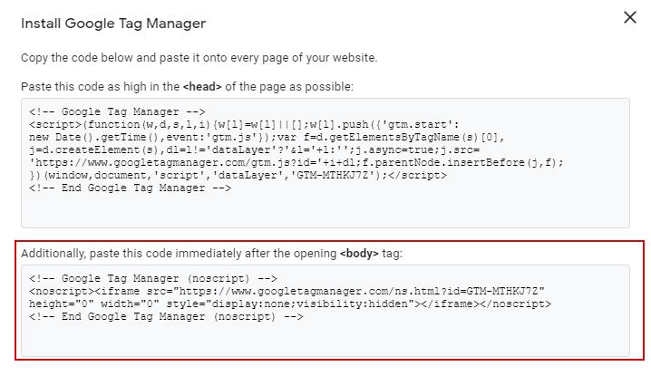 Noscript Google Tag Manager Gode