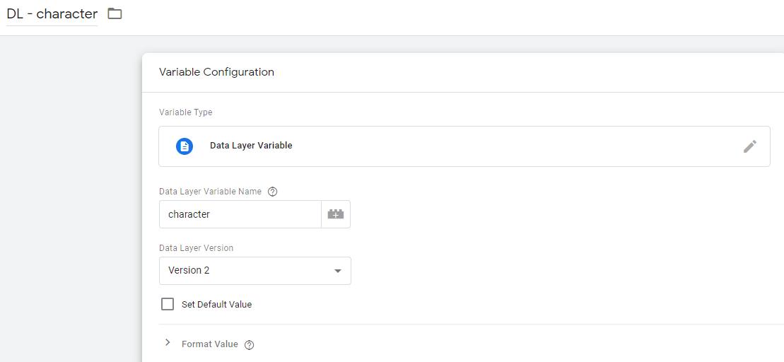 Пример настройки переменной типа dataLayer для хранения информации о типе читателя