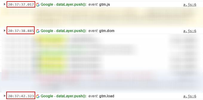 Разница во времени между событиями просмотра страницы в GTM