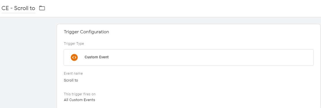 Триггер типа пользовательского события для отслеживания глубины прокрутки и времени активности вкладки