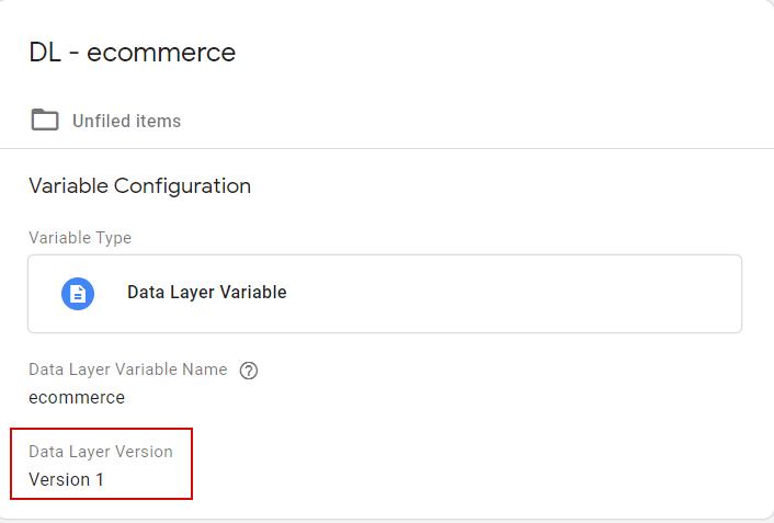 Переменная для хранения данных dataLayer ecommerce